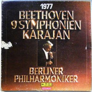 KARAJAN 9 Symphonien RARE JAPAN Press 8xLP BOX-SET NM 1977