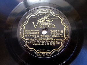 DUKE ELLINGTON Arg Scr VICTOR 24617 JAZZ 78rpm COPETINE