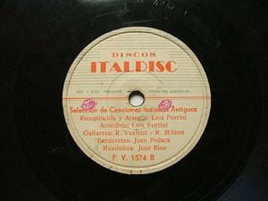 LUIS PORRINI Italdisc 1574 78rpm ANTIQUE ITALIC SONGS
