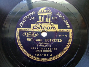 DUKE ELLINGTON Rare Arg ODEON 194191 JAZZ 78rpm