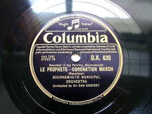 GODFREY DAN cond HANDEL COLUMBIA DX620 12'' 78rpm
