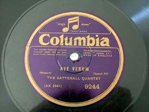 CATTERAL QUARTET Mozart/Schubert COLUMBIA 9244 78rpm
