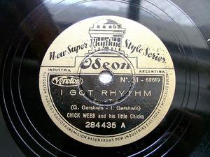 CHICK WEBB Odeon 284435 JAZZ 78 I GOT RYTHM / SWEET SUE (12805)