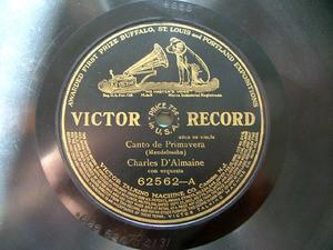 D'ALMAINE / RATTAY violin Black VICTOR 62562 10'' 78rpm