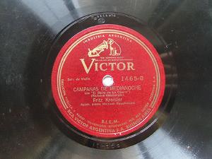 F. KREISLER Arg VICTOR 1465 VIOLIN 78rpm VIEJO REFRAN