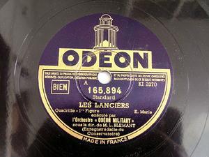 BLEMANT L. cond ODEON 165894 78rpm LES LANCIERS