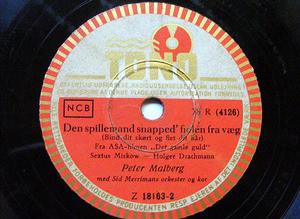 PETER MALBERG & POUL REICHHARDT Tono Z 18163 78rpm