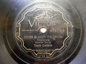 TAPIA & ORELLANA Victor 47515 GUITAR DUO 78rpm CORDOBES