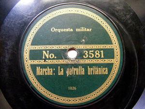 ORQ MILITAR Private RECORD No 3581 RARE MILITAR 78rpm