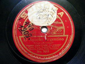 ORQ TIP. LA ARMONIA Sonora 7018 RARE TANGO 78 EL JAGUEL