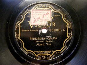 ALBERTO VILA Scr VICTOR 80988 TANGO 78rpm PRINCESITA