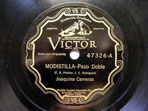 JOAQUINA CARRERAS Scr VICTOR 47326 78rpm MODISTILLA