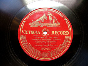 CARUSO, SCOTTI, JOURNET Victrola 95206 OPERA 78rpm