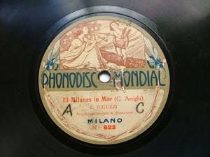 EMILIO RIGUZZI Phonodisc 623 78rpm EL MILANES IN MAR