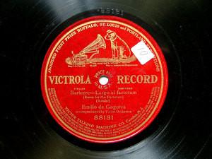 EMILIO DE GOGORZA Victrola 88181 OPERA 78rpm BARBIERE