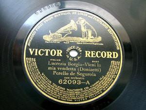 DE SEGUROLA / ACERBI Victor 62093 OPERA 78rpm DONIZETTI