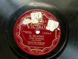 EMILIO DE GOGORZA Scr VICTROLA 1294 OPERA 78rpm CHARM