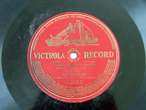ANTONIO SCOTTI barit VICTOR 12'' 1side 78rpm PUCCINI