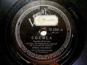 JORGE NEGRETE & MARICHI VARGAS Victor 70-6961 RARE 78 COCULA / BONITA GUADALAJAR
