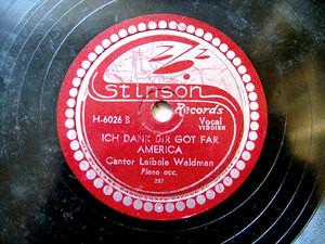 """LEIBELE WALDMAN Stinson H-6026 YIDDISH 10"""" 78rpm"""