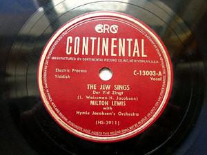 M. LEWIS & H. JACOBSON Orch CONTINENTAL C-13003 78rpm