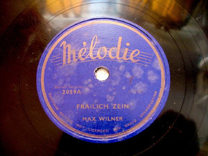 MAX WILNER on MELODIE 2059 JEWISH 78rpm