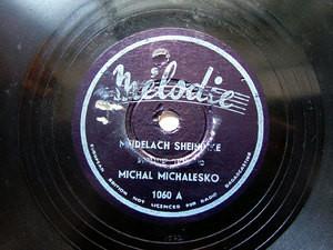 MICHAL MICHALESKO Melodie 1060 JEWISH 78rpm