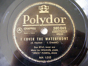 BYAS WILLIAMS POWELL Polydor 580065 JAZZ 78rpm MY BABY