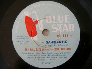 EDDIE SAFRANSKI &THE POLL CATS Blue Star 111 JAZZ 78rpm