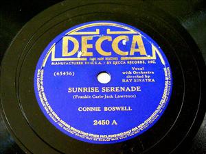 CONNIE BOSWELL Decca 2450 JAZZ 78rpm SUNRISE SERENADE