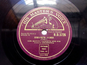 "DON MARINO BARRETO HMV BD-5726 10"" JAZZ 78rpm"