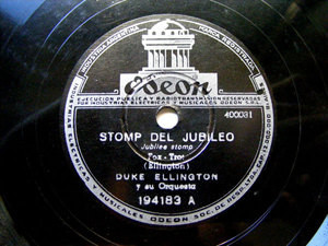D. ELLINGTON Arg ODEON 194183 JAZZ 78rpm STOMP JUBILEO
