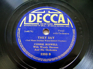 CONNIE BOSWELL & W. HERMAN Orch DECCA 2258 JAZZ 78rpm