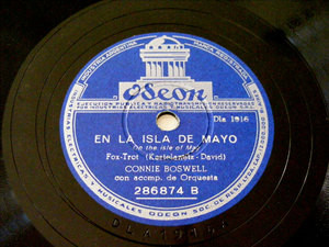 CONNIE BOSWELL Arg ODEON 286874 JAZZ 78rpm HAY HUMO EN
