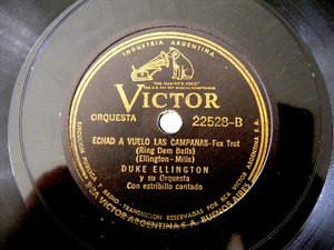 DUKE ELLINGTON Victor 22528 JAZZ 78rpm TRES PALABRITAS