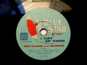 DIZZY GILLESPIE Blue Star 133 JAZZ 78rpm GOOD BAIT 1475