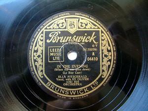 FITZGERALD & SY OLIVER Brunswick 04410 JAZZ 78rpm TALK