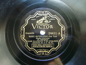 DUKE ELLINGTON Arg Scr VICTOR 24431 JAZZ 78rpm RUDE INT