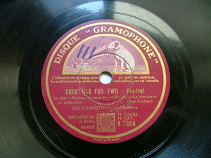 DUKE ELLINGTON Gramophone K7358 JAZZ 78rpm COCKTAIL FOR