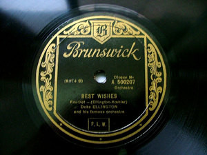 DUKE ELLINGTON Fr BRUNSWICK 500207 JAZZ 78rpm BLUE HARL