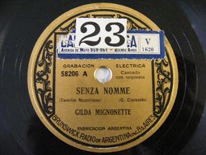 G. MIGNONETTE Brunswick 58206 NEAPOLITAN 78 SENZA NOMME