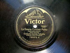 ORQ ITALIANA TAFARELLA Scr Victor 78699 ITALIAN 78rpm