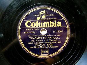 FRANCO RICCI Columbia D13307 ITALIAN 78rpm SERENA