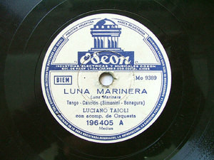 LUCIANO TAJOLI Arg ODEON 196405 ITALIAN 78rpm LUNA MARI