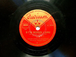 CESARE GALLI Durium A 9089 ITALIAN 78rpm MOVIE SONGS
