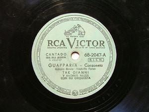 TAK GIANNI Victor 68-2047 ITALIAN 78rpm GUAPPARIA