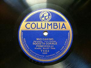 SOCIETA CORALE PONCHIELLI Columbia T682 ITALIAN 78rpm