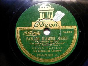 MARIO LATILLA Odeon 194046 ITALIAN 78rpm PARLIAMI D'AMO