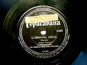 CAREQUINHA Copacabana 6360 BRAZIL 78rpm CARNAVAL LEGAL