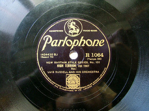 ARMSTRONG / RUSSEL Parlophone 1064 JAZZ 78rpm KNOCKIN'